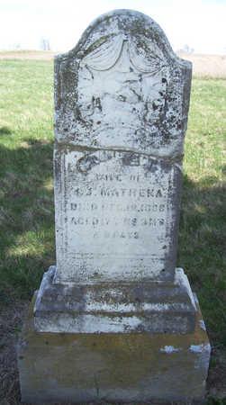 MATHEKA, FRANCES A. - Shelby County, Iowa   FRANCES A. MATHEKA