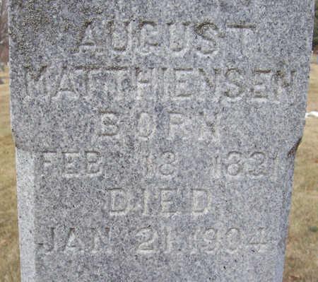MATTHIENSEN, AUGUST (CLOSE-UP) - Shelby County, Iowa | AUGUST (CLOSE-UP) MATTHIENSEN