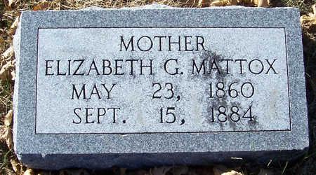 MATTOX, ELIZABETH G. (MOTHER) - Shelby County, Iowa | ELIZABETH G. (MOTHER) MATTOX