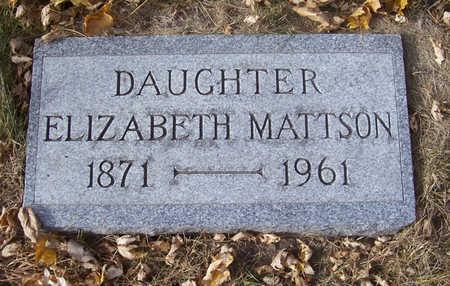 MATTSON, ELIZABETH - Shelby County, Iowa | ELIZABETH MATTSON