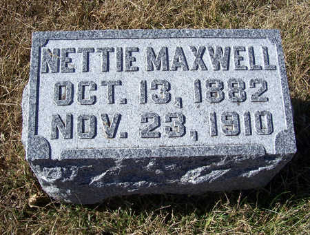 MAXWELL, NETTIE - Shelby County, Iowa | NETTIE MAXWELL
