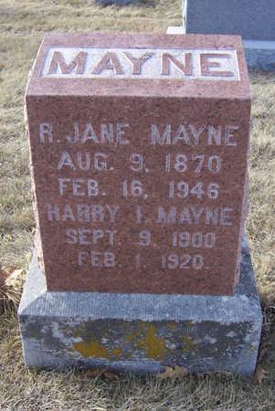 MAYNE, R. JANE - Shelby County, Iowa | R. JANE MAYNE