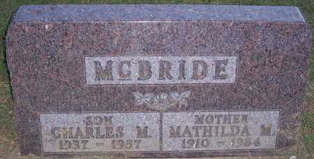 SCHLEIER MCBRIDE, MATHILDA M. - Shelby County, Iowa   MATHILDA M. SCHLEIER MCBRIDE