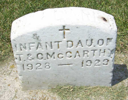 MCCARTHY, INFANT DAUGHTER - Shelby County, Iowa   INFANT DAUGHTER MCCARTHY