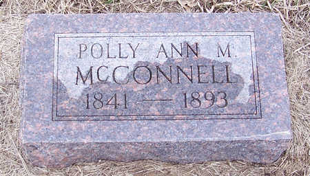 MCCONNELL, POLLY ANN - Shelby County, Iowa   POLLY ANN MCCONNELL