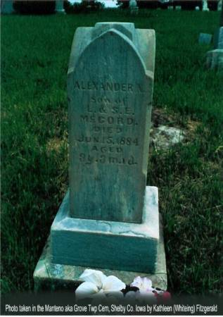MCCORD, ALEXANDER N. - Shelby County, Iowa   ALEXANDER N. MCCORD