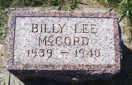 MCCORD, BILLY LEE - Shelby County, Iowa | BILLY LEE MCCORD