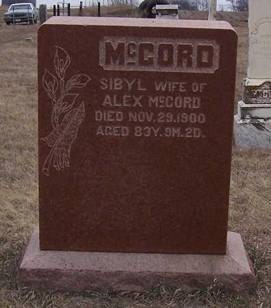 MCCORD, SIBYL - Shelby County, Iowa | SIBYL MCCORD