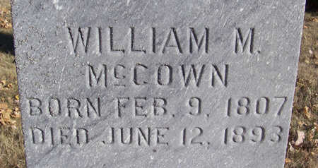 MCCOWN, WILLIAM M. (CLOSE-UP) - Shelby County, Iowa   WILLIAM M. (CLOSE-UP) MCCOWN