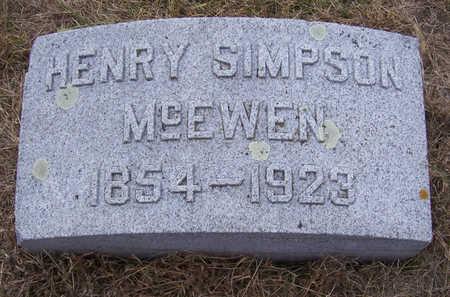 MCEWEN, HENRY SIMPSON - Shelby County, Iowa | HENRY SIMPSON MCEWEN