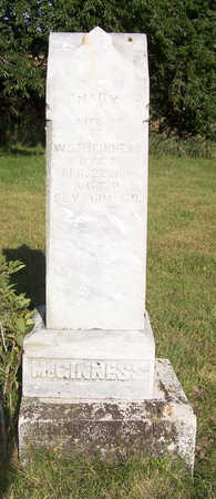 MCGINNESS, MARY - Shelby County, Iowa   MARY MCGINNESS