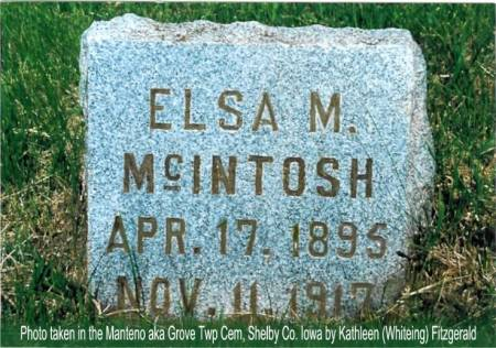 MCINTOSH, ELSA M. - Shelby County, Iowa | ELSA M. MCINTOSH