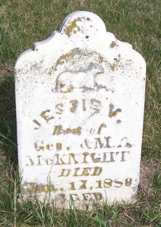 MCKNIGHT, JESSIE V. - Shelby County, Iowa | JESSIE V. MCKNIGHT