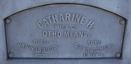 MEANS, CATHARINE H. (CLOSE-UP) - Shelby County, Iowa | CATHARINE H. (CLOSE-UP) MEANS