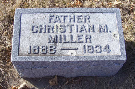 MILLER, CHRISTIAN M. (FATHER) - Shelby County, Iowa   CHRISTIAN M. (FATHER) MILLER