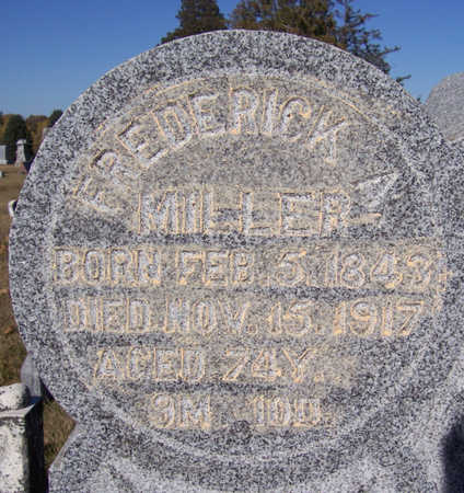 MILLER, FREDERICK A. (CLOSE-UP) - Shelby County, Iowa | FREDERICK A. (CLOSE-UP) MILLER