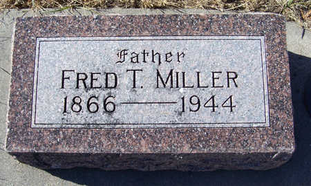MILLER, FRED T. (FATHER) - Shelby County, Iowa   FRED T. (FATHER) MILLER