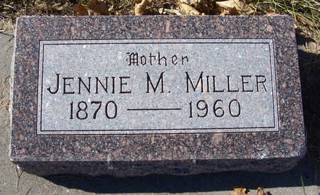 MILLER, JENNIE M. (MOTHER) - Shelby County, Iowa | JENNIE M. (MOTHER) MILLER