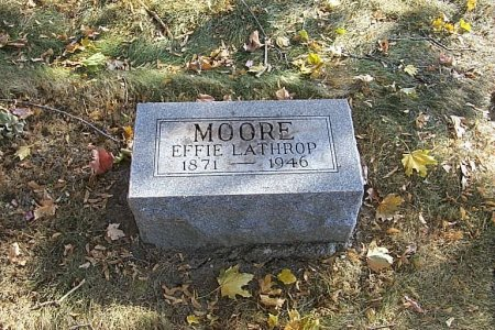LATHROP MOORE, EFFIE - Shelby County, Iowa | EFFIE LATHROP MOORE