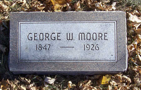 MOORE, GEORGE W. - Shelby County, Iowa   GEORGE W. MOORE