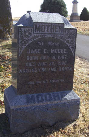 MOORE, JANE E. (MOTHER) - Shelby County, Iowa | JANE E. (MOTHER) MOORE