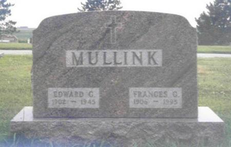 MULLINK, EDWARD GEORGE - Shelby County, Iowa | EDWARD GEORGE MULLINK