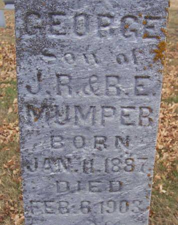 MUMPER, GEORGE (CLOSE-UP) - Shelby County, Iowa   GEORGE (CLOSE-UP) MUMPER