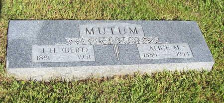 MUTUM, ALICE M. - Shelby County, Iowa | ALICE M. MUTUM