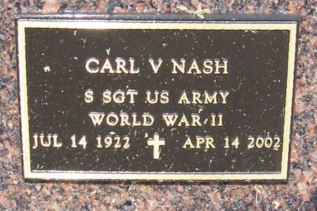 NASH, CARL V. (MILITARY) - Shelby County, Iowa | CARL V. (MILITARY) NASH