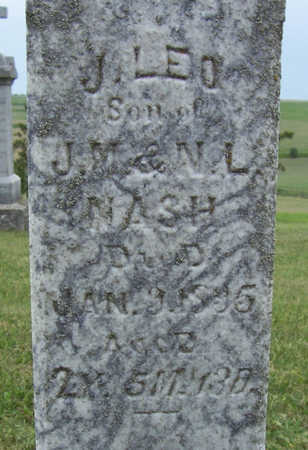 NASH, J. LEO (CLOSE-UP) - Shelby County, Iowa | J. LEO (CLOSE-UP) NASH