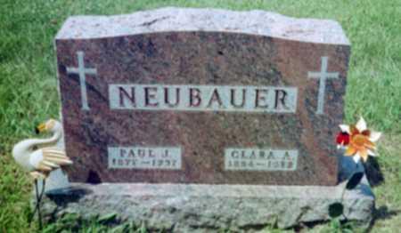 BONHAGEL NEUBAUER, CLARA A. - Shelby County, Iowa | CLARA A. BONHAGEL NEUBAUER