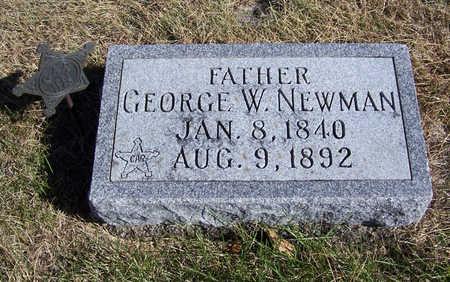 NEWMAN, GEORGE W. (FATHER) - Shelby County, Iowa | GEORGE W. (FATHER) NEWMAN