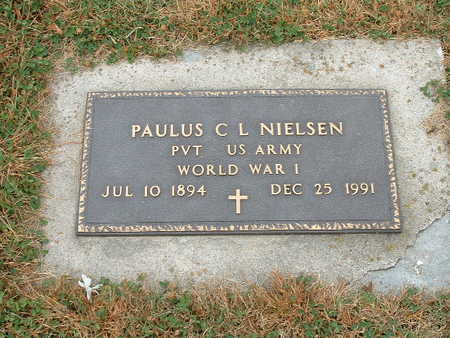 NIELSEN, PAULUS C. L. (MILITARY) - Shelby County, Iowa | PAULUS C. L. (MILITARY) NIELSEN