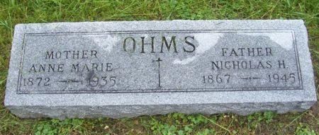 OHMS, ANNE MARIE - Shelby County, Iowa   ANNE MARIE OHMS