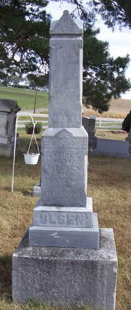OLSEN, THRINE M. - Shelby County, Iowa   THRINE M. OLSEN