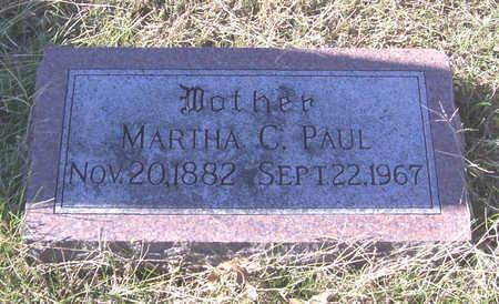 PAUL, MARTHA C. (MOTHER) - Shelby County, Iowa   MARTHA C. (MOTHER) PAUL