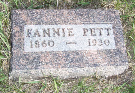 PETT, FANNIE - Shelby County, Iowa | FANNIE PETT