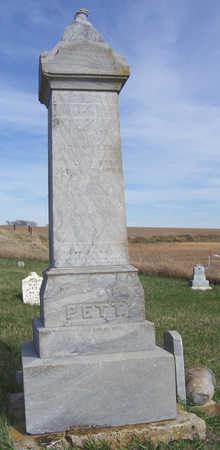 PETT, MARY ANN - Shelby County, Iowa   MARY ANN PETT