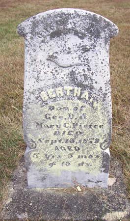 PIERCE, BERTHA - Shelby County, Iowa | BERTHA PIERCE