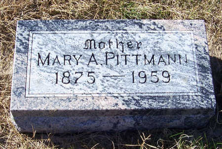 PITTMANN, MARY A. (MOTHER) - Shelby County, Iowa | MARY A. (MOTHER) PITTMANN