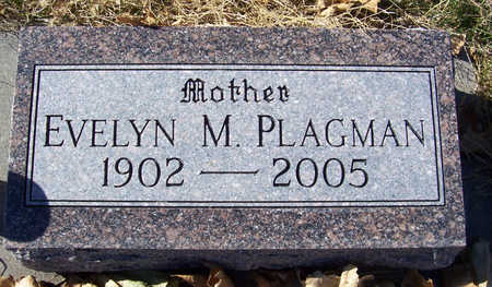 PLAGMAN, EVELYN M. (MOTHER) - Shelby County, Iowa   EVELYN M. (MOTHER) PLAGMAN