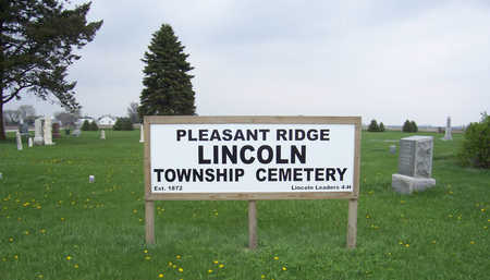 PLEASANT RIDGE A.K.A. LINCOLN, (SIGN) - Shelby County, Iowa | (SIGN) PLEASANT RIDGE A.K.A. LINCOLN