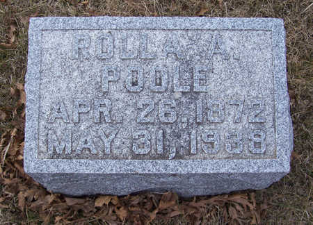 POOLE, ROLLA A. - Shelby County, Iowa   ROLLA A. POOLE