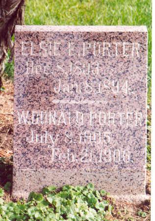 PORTER, ELSIE - Shelby County, Iowa | ELSIE PORTER
