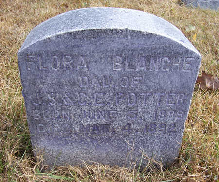 POTTER, FLORA BLANCHE - Shelby County, Iowa   FLORA BLANCHE POTTER