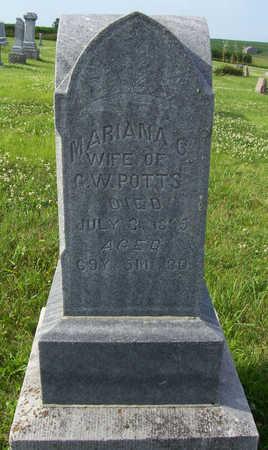 POTTS, MARIANA G. - Shelby County, Iowa   MARIANA G. POTTS