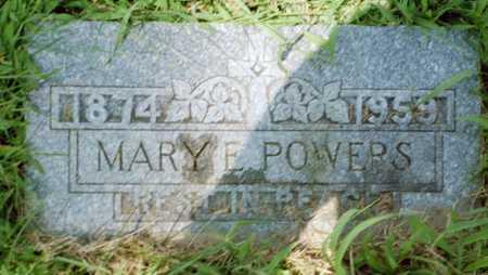 POWERS, MARY E. - Shelby County, Iowa | MARY E. POWERS