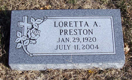 PRESTON, LORETTA A. - Shelby County, Iowa | LORETTA A. PRESTON