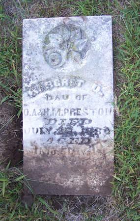 PRESTON, MARGRET D. - Shelby County, Iowa   MARGRET D. PRESTON