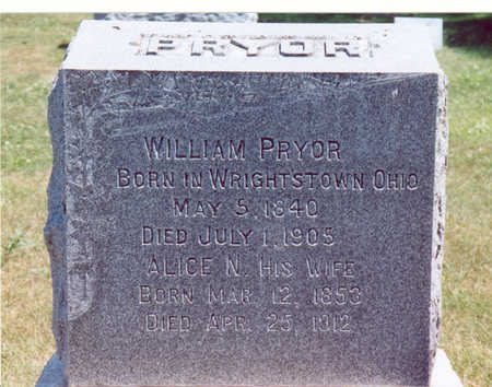 PRYOR, WILLIAM & ALICE N. - Shelby County, Iowa | WILLIAM & ALICE N. PRYOR